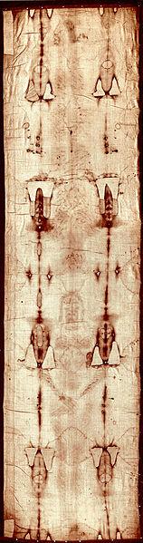 A torinói lepel teljes képe a 2002-es restauráció előtt