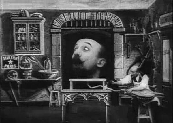 <em>A gumifejű ember</em> (L'homme à la tête de caoutchouc. Georges Méliès, 1901)