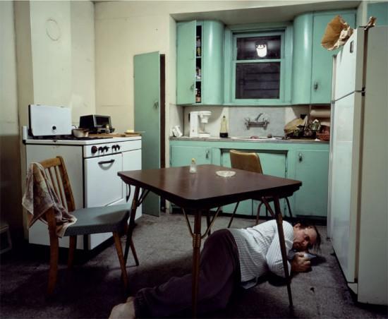 Jeff Wall: Insomnia, 1994. 1722 x 2135 mm. Hamburger Kunsthalle, Hamburg.