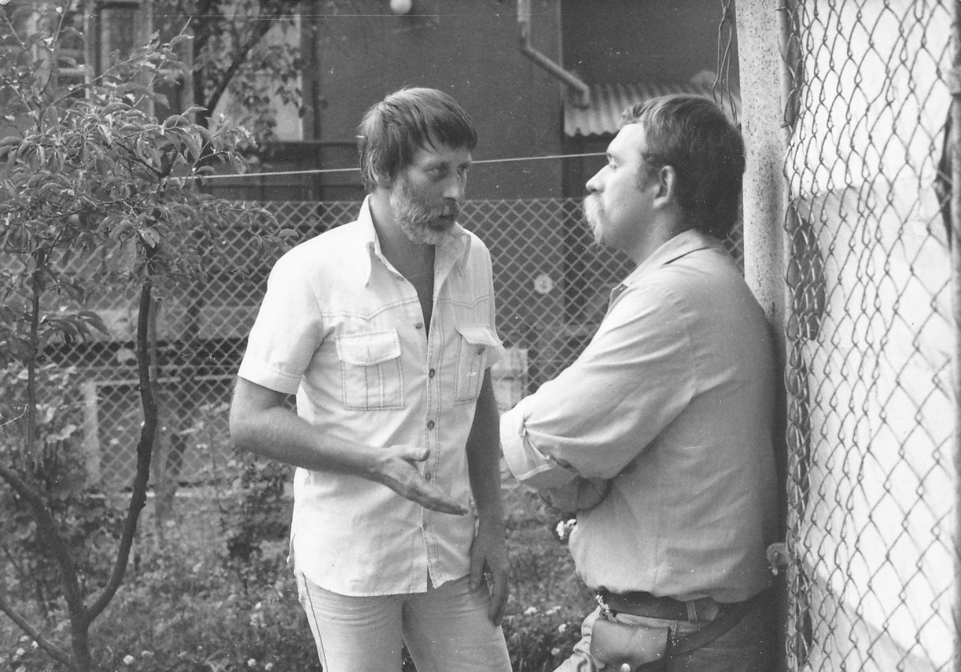 Dárday István rendező és Pap Ferenc operatőr az <em>Átváltozás</em> (Dárday István, Szalai Györgyi. 1983) forgatásán
