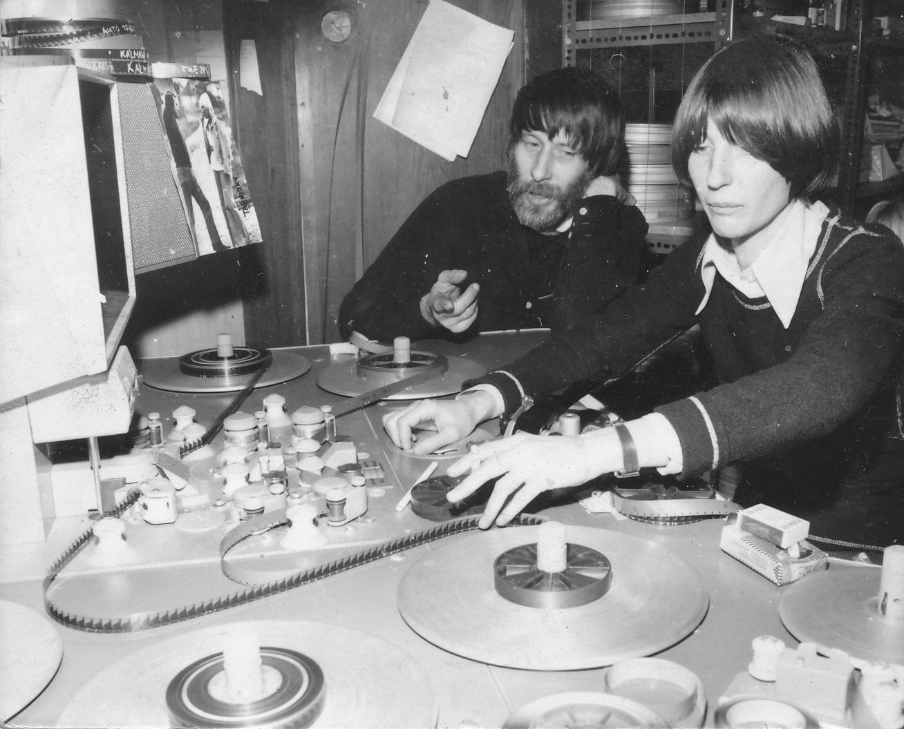 Dárday István és Szalai Györgyi - <em> Harcmodor </em> (Dárday István, Szalai Györgyi. 1980) a vágóasztalon, 1979 január