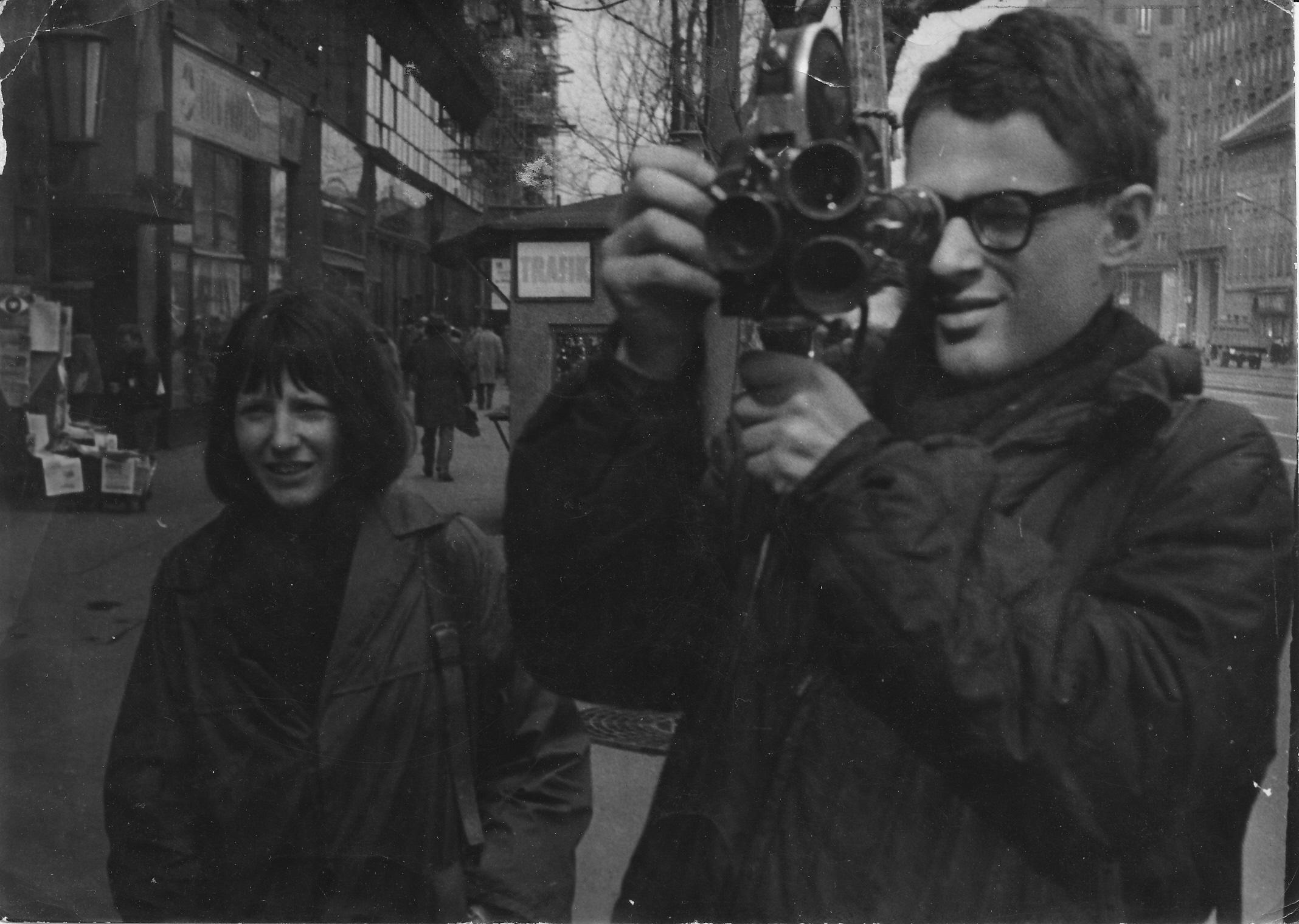 Szalai Györgyi és Szomjas György felvétel közben 1964 március