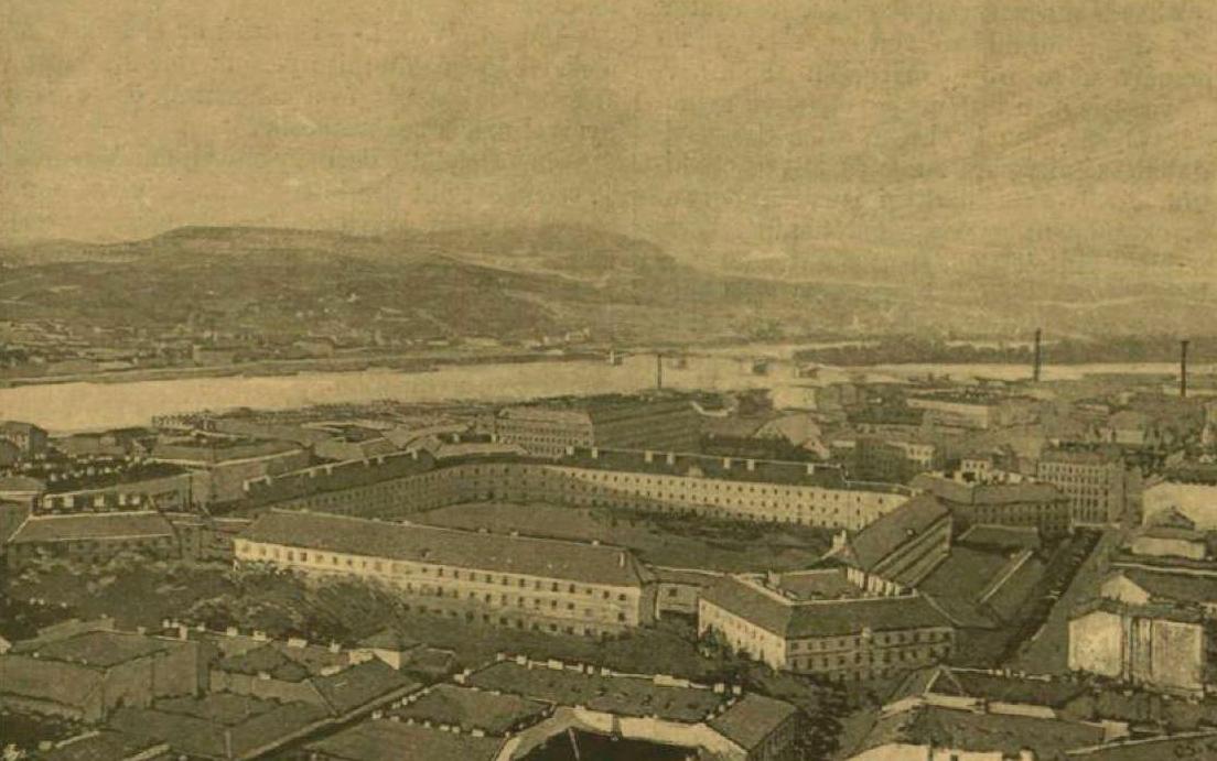 Az Újépület és környéke. Dr. Téry Ödön fényképe a lipótvárosi Bazilika tetejéről (Vasárnapi Újság, 1890. 37. évf. 20. sz.)