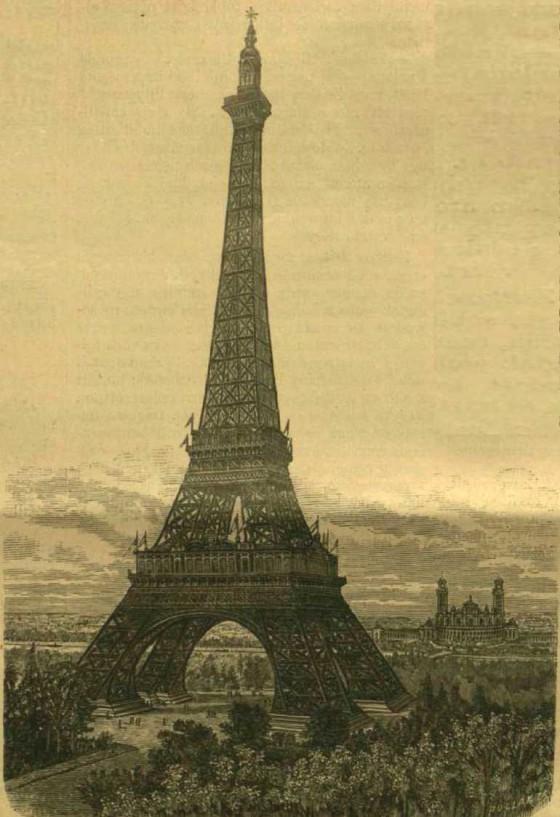 A párisi Eiffel-torony. Pollák Zsigmond metszete