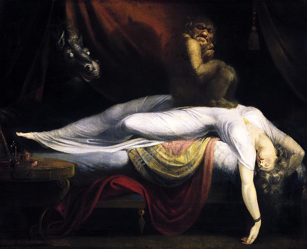 Henry Fuseli: The Nightmare, 1871. Olaj, vászon, 100 x 127 cm. Detroit Institute of Arts.