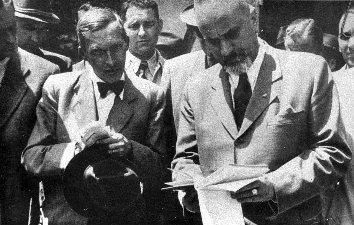 kép Marschalkó Lajos 1944. június 15-én, Kolosváry-Borcsa Mihály mellett.