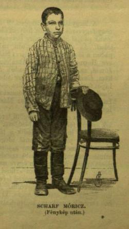 """Scharf Móricz. A Vasárnapi újság 1883. június 24-i számának képi illusztrációi (""""Fénykép után"""")."""
