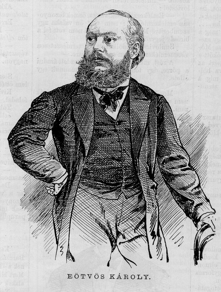 Eötvös Károly, a per védőügyvédje. (Forrás: Vasárnapi Újság)