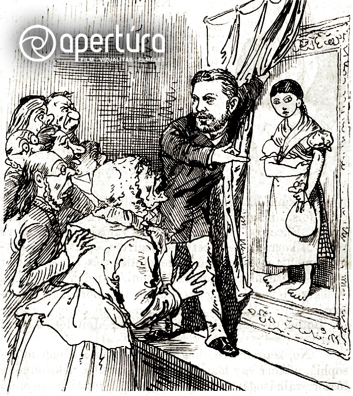 Ismeretlen rajzoló: [Ónody Géza a drezdai Zsidóellenes Kongresszuson bemutatja Solymosi Eszter portréját]. A Borsszem Jankóban megjelent karikatúra (1882. 09. 17., 7).