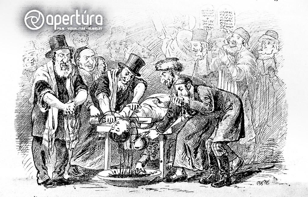 Csörgey Zoltán: [Solymosi Eszter rituális meggyilkolása], 1882. A rajz feltehetően Ernest/Josip/Giuseppe Novak ugyanebben az évben, Zágrábban készült, Solymosi Eszter állítólagos meggyilkolását ábrázoló festményének hatására készült. Megjelent: Füstölő, 1882. 10. 01., 5; Rebach, 1882. 12. 01., 7.