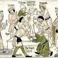 Ismeretlen rajzoló és metsző: Trentói Simon mártírhalála, Nürnberg, 1475–1477. Fametszet, 273 x 293 mm, Bibliothèque nationale de France.