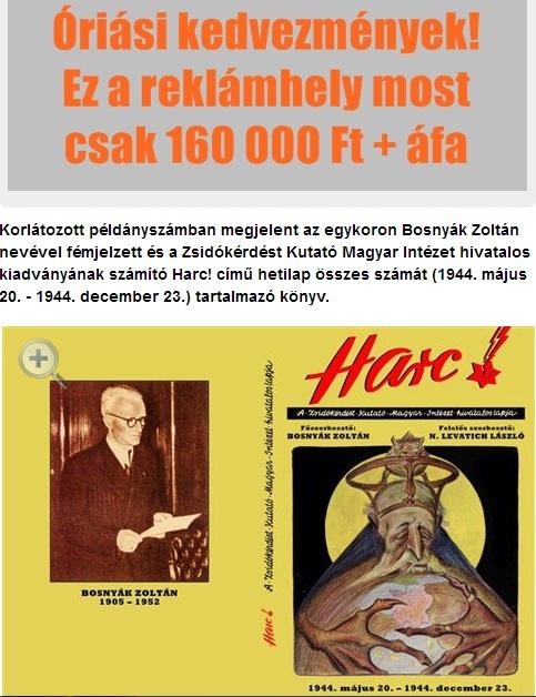 Könyvajánló és reklámlehetőség a kuruc.info oldalon