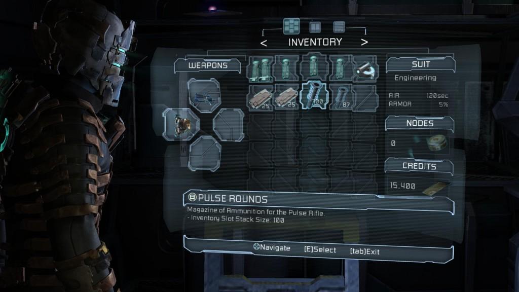 A Dead Space elegáns megoldása a menü kiküszöbölésére