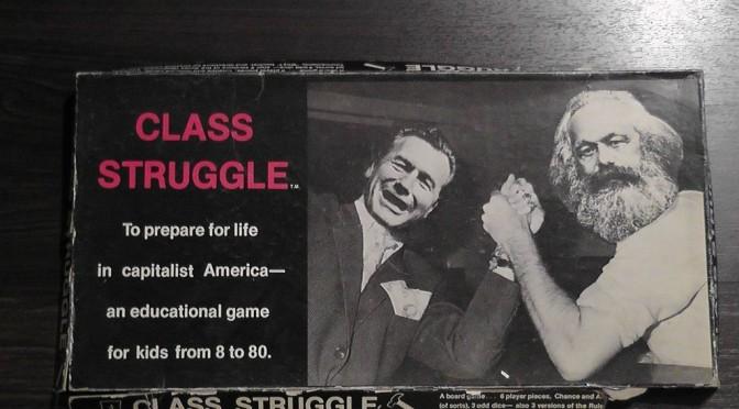 <em>A Class Struggle</em> (Bertell Ollmann, 1978) című táblajáték doboza.