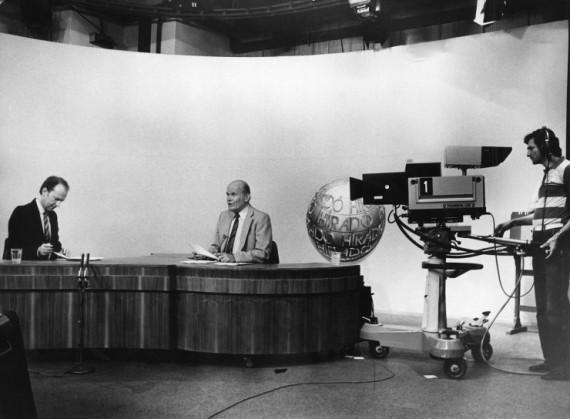 A TV Híradó közvetítése az 1980-as években a Magyar Televízióban