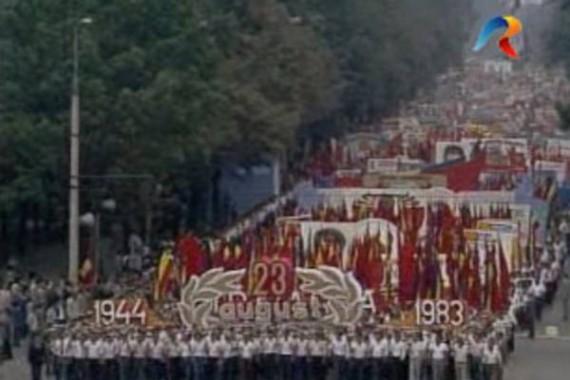 Az első színes közvetítés a Román Televízióban (1983. augusztus 23.)