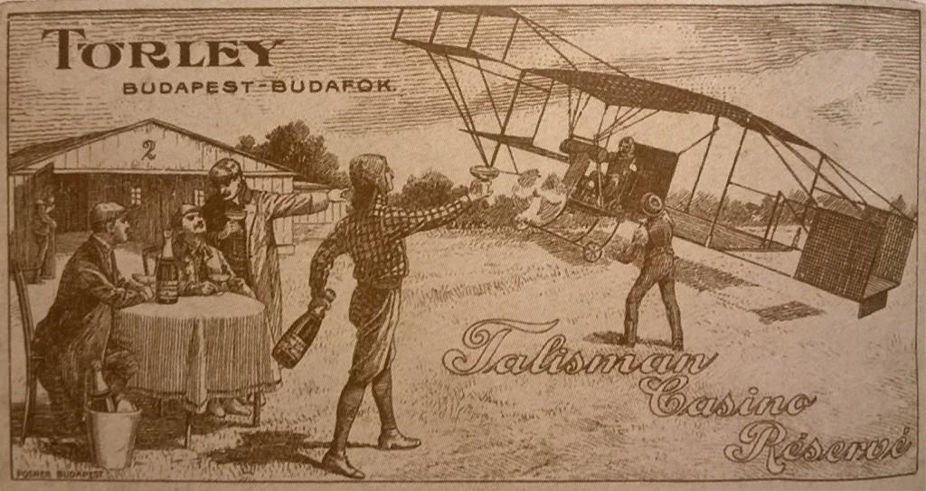 Törley számolócédula repülővel (Forrás: Nagyváthy).