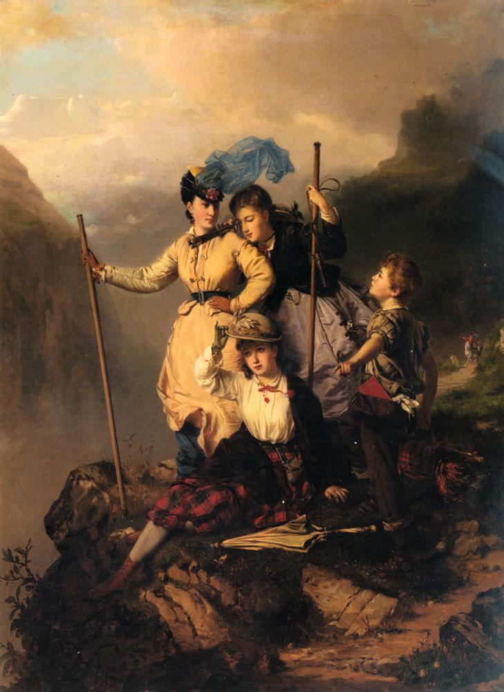 Charles-Édouard Boutibonne: Hegymászók, 1868.
