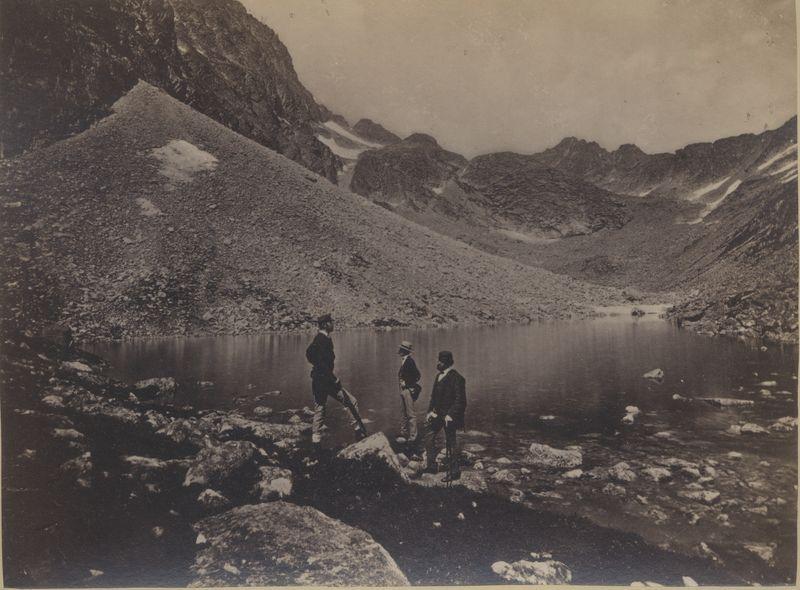 Divald Károly: Felkai völgy hosszú tó (Magas-Tátra, 1870-es évek).