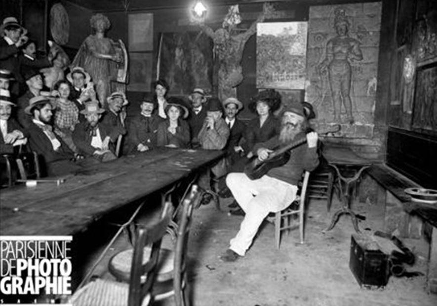 Lapin Agile. Poulbot et ses amis au Lapin agile, 1905. Musée Carnavalet, Paris.