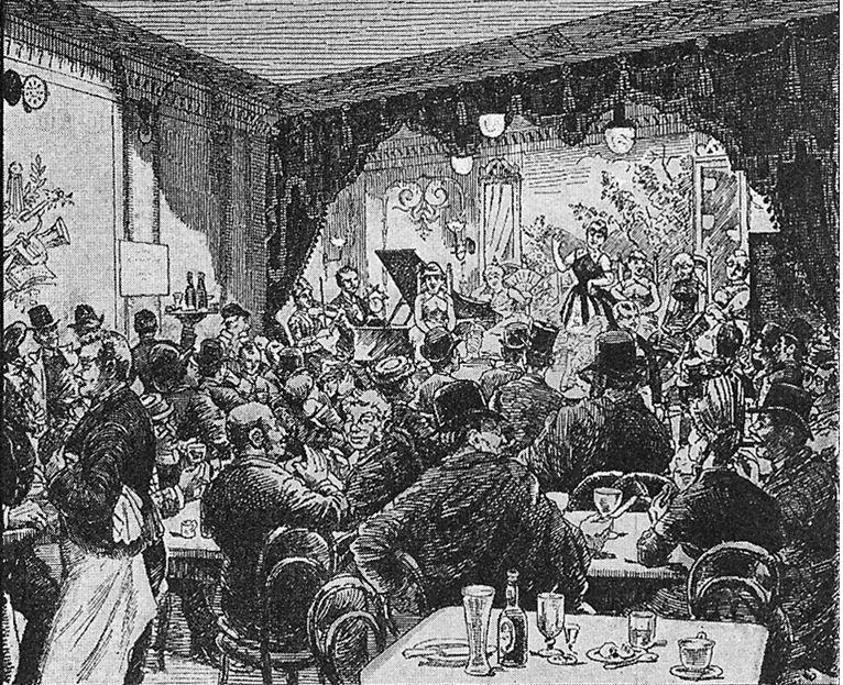 Café Chantant. A Café Chantant belső tere.