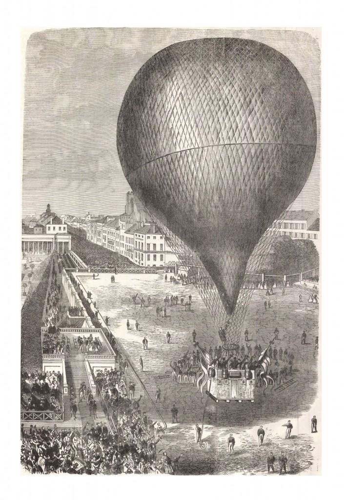 Nadar légutazása Brüsszelből 1864. szeptember 26-án