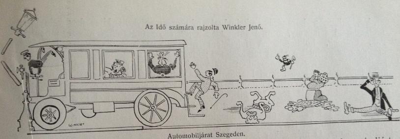Winkler Jenő illusztrációja Az idő című folyóiratban (1907).