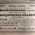 Hirdetés a Szeged és vidéke 1906. szeptember 29-i számában