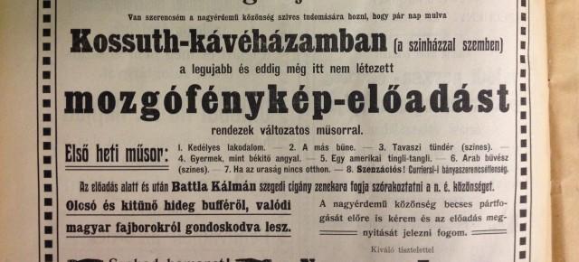 Babits és a korai (magyar) mozi