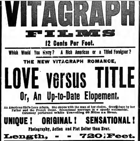 The New York Clipper 1906. május 26-i hirdetése