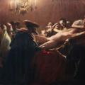 Ismeretlen festő (pszeudo-Munkácsy): Rituális gyilkosság, 1889–1897 (?). Olaj, vászon, 225 x 392 cm.