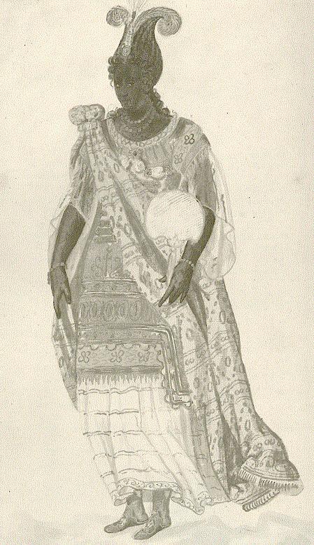 A fekete női maszkajátékosok a The Masque of Blacknessben, 1606
