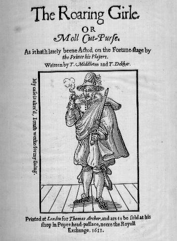 A The Roaring Girl 1611-es címlapja