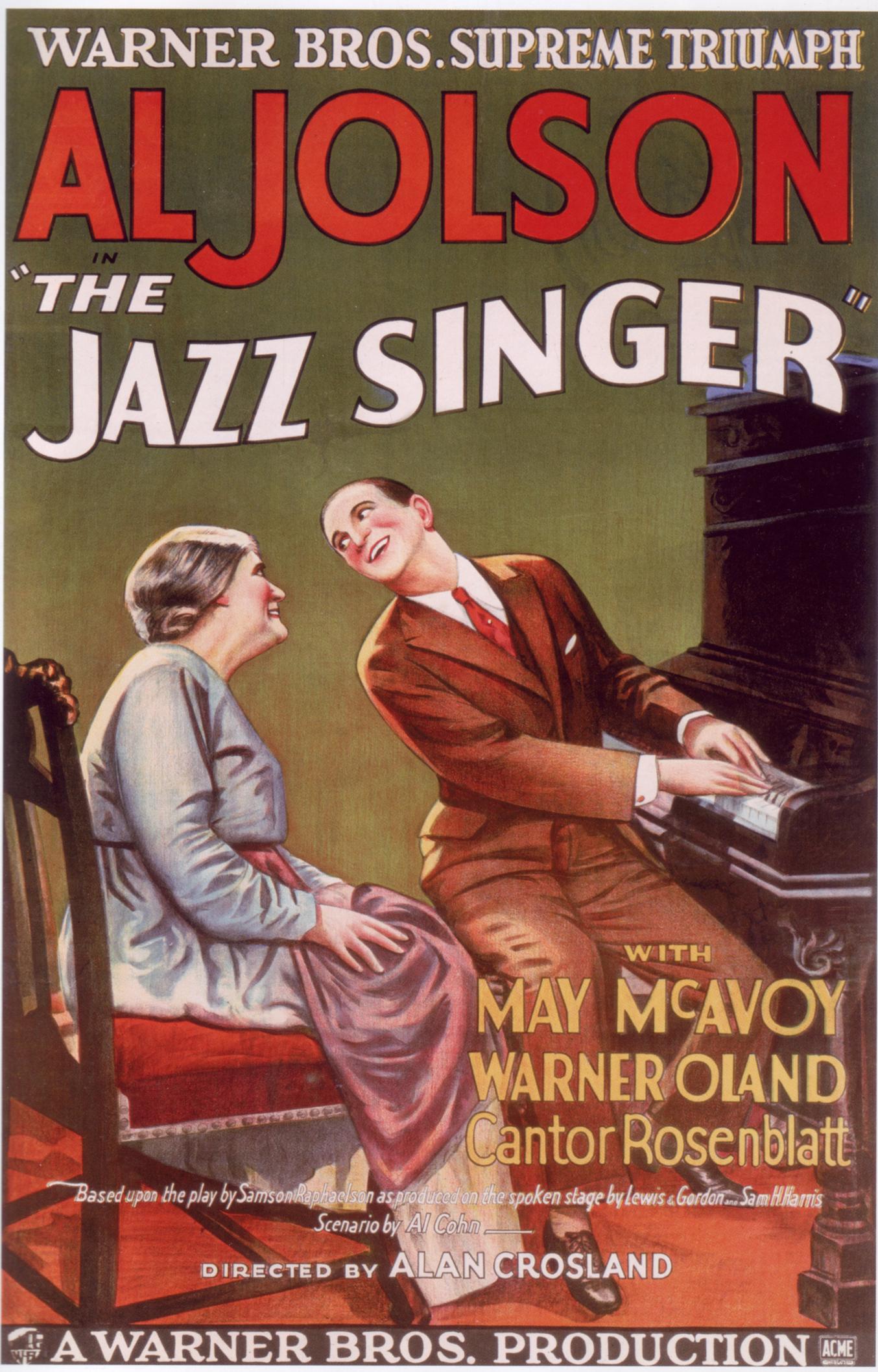 <em>A dzsesszénekes</em> (The Jazz Singer. Alan Crosland, 1927)