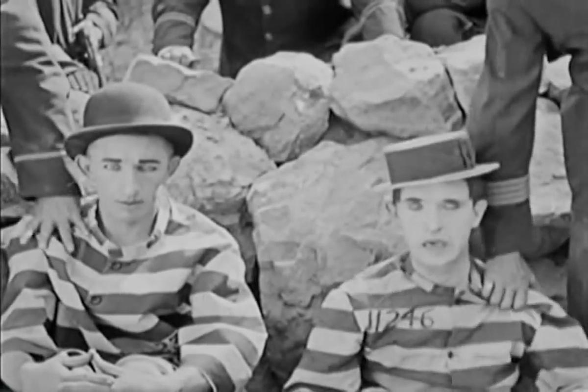 Larry Semon és Stan Laurel (Frauds and Frenzies. Larry Semon, 1918)