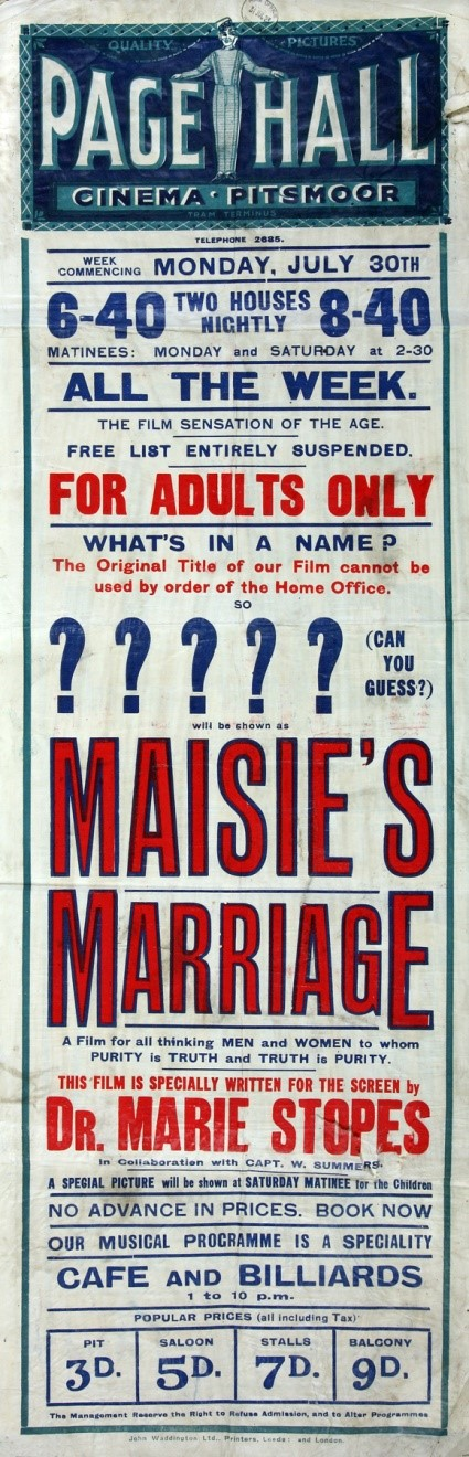 3. kép A <em>Masie's Marriege</em> című film posztere (1923)