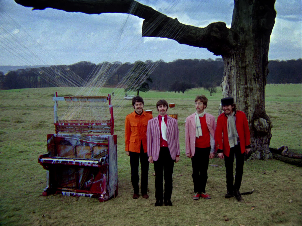 Részlet a <em>Strawberry Fields Forever</em> promóciós filmjéből