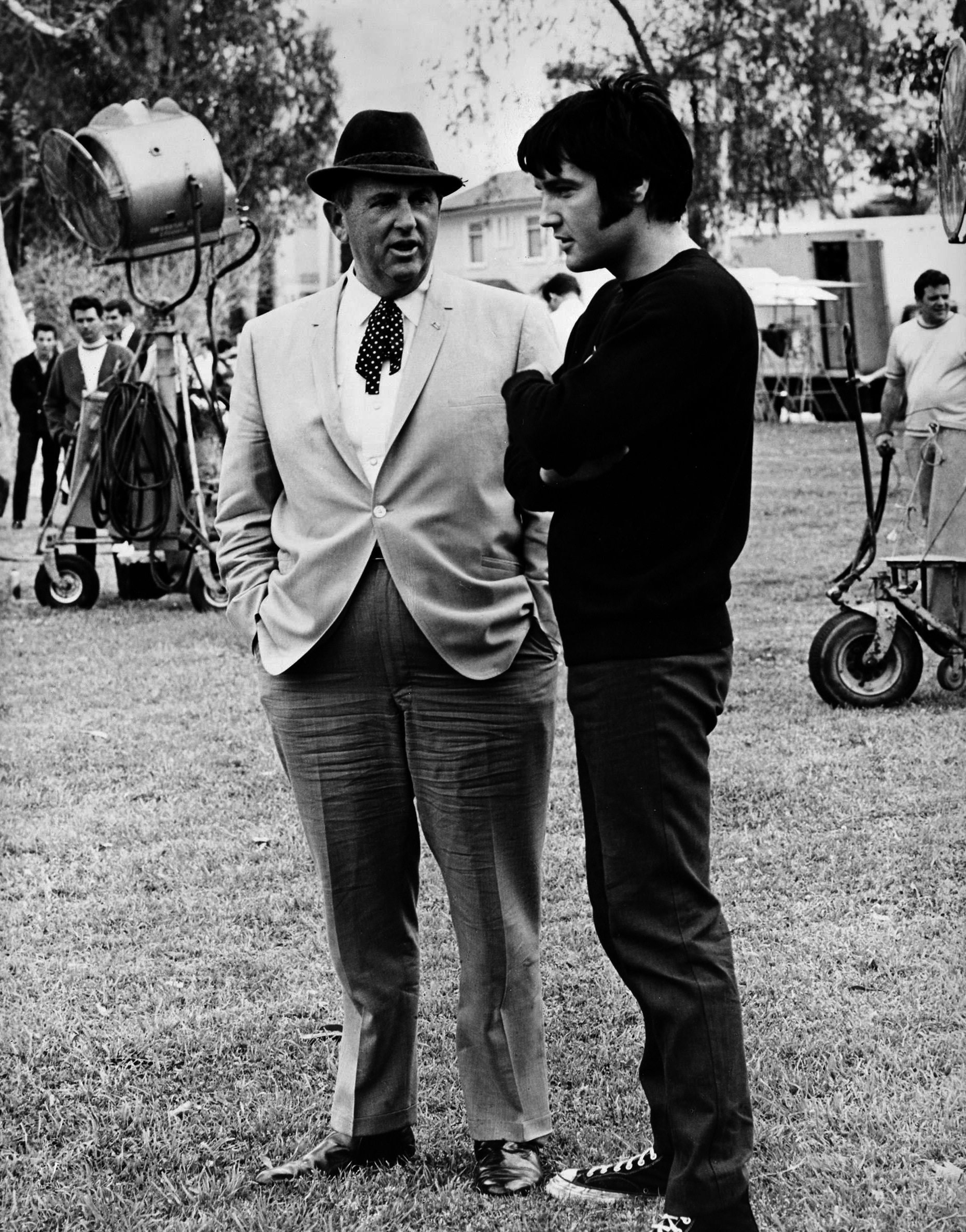 Elvis Presley Tom Parker ezredessel 1969-ben