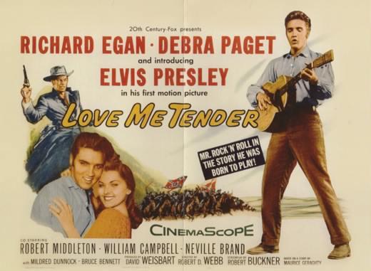 A <em>Love Me Tender</em> (Robert D. Webb, 1956) filmplakátja