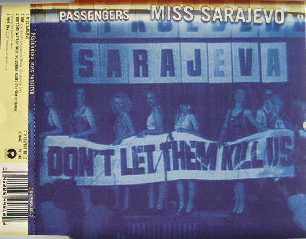 A <em>Miss Sarajevo</em> című kislemez borítója