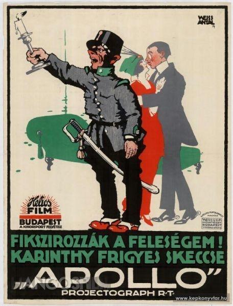 Weiss Antal plakátja a szkeccs csattanójaval. Forrás: hangosfilm.hu