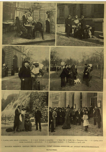 Jelfy Gyula felvételei a Gazdag ember kabátja forgatásán. Forrás: <em>Vasárnapi Újság</em>, 1912. március 10.