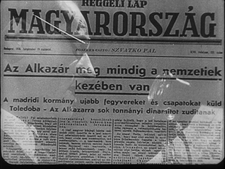 <em>Az Alcázarban a helyzet változatlan</em> / <em>Az Alcazár ostroma</em> (Sin novedad en el Alcázar  L'assedio dell' Alcazar. Augusto Genina, 1940).