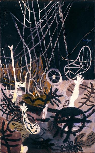 Constant Nieuwenhuys: <em>Terre Brulée III</em>, 1951. Olaj, vászon. Stedelijk Museum Schiedam.