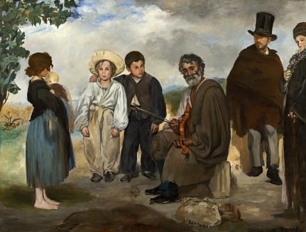 Edouard Manet: <em>Öreg muzsikus</em>, 1862. Olaj, vászon. Chester Dale Collection.