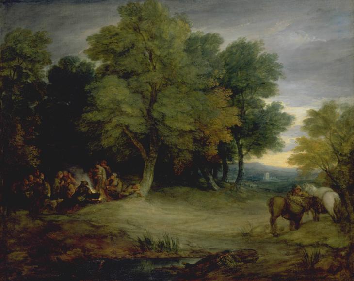 Gypsy Encampment, Sunset c.1778-80 by Thomas Gainsborough 1727-1788