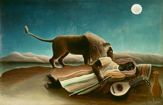 Henri Rousseau: Alvó cigánylány (1897)