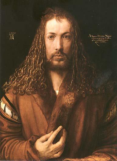 Albrecht Dürer: <em>Önarckép</em>, 1500. Alte Pinakothek, München.