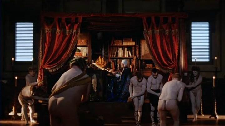 Prospero dolgozószobájában. <em>Prospero könyvei</em> (<em>Prospero's Books</em>. Peter Greenaway, 1991)
