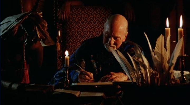 Prospero és a <em>Vihar</em>. <em>Prospero könyvei</em> (<em>Prospero's Books</em>. Peter Greenaway, 1991)